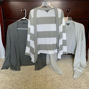 Set of 3 Express Lightweight Cardigans XS